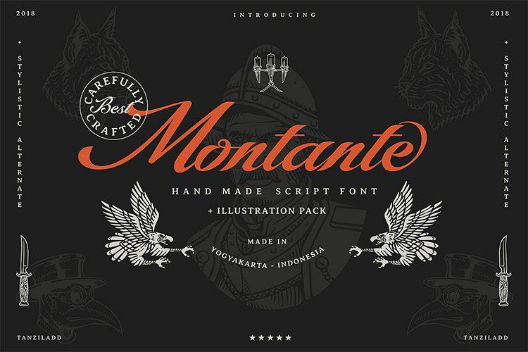 Montante Script. Illustration pack example image 1