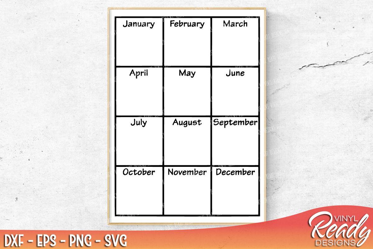 yearly calendar blank template vector design bundles