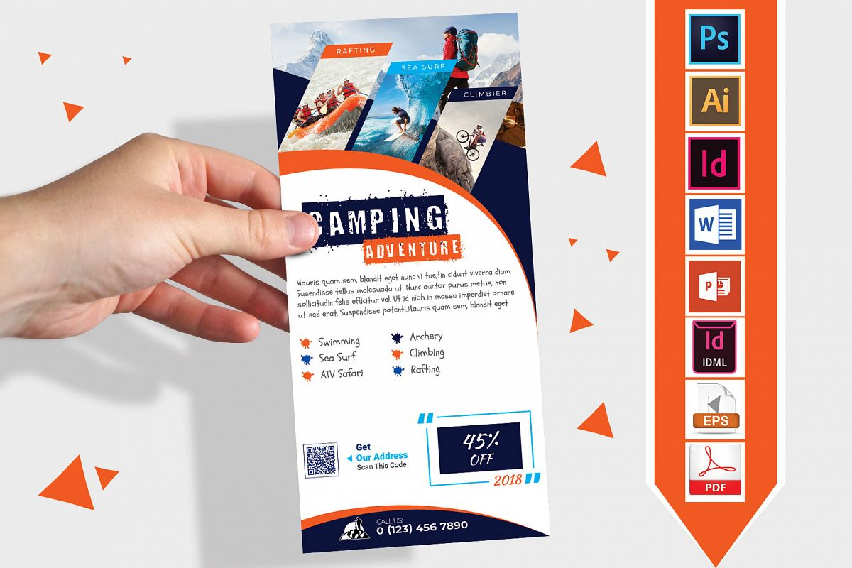 Rack Card | Camping Adventure DL Flyer Vol-03 example image 1