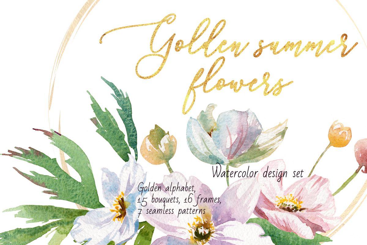 Golden summer flowers example image 1
