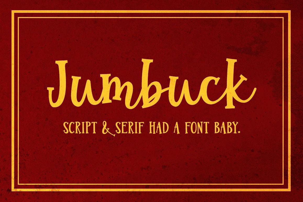 Jumbuck: a serif script font! Main product image.