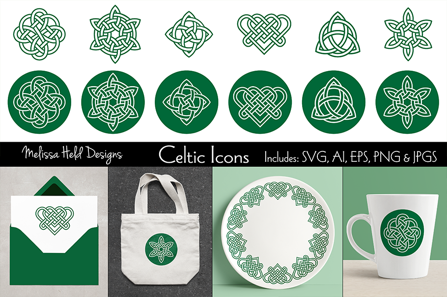 Celtic Knot Icons example image 1