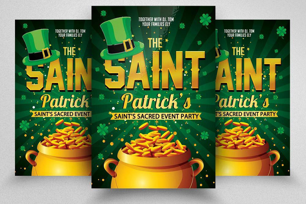 Saint Patricks Day Flyer example image 1