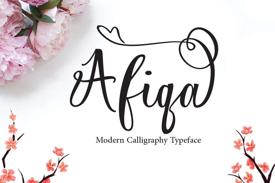 Afiqa Script example image 1