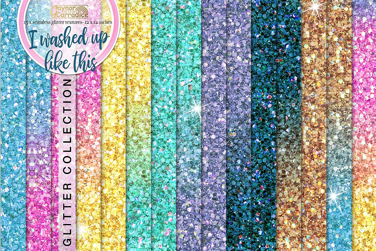 Mermaid seamless Glitter backgrounds example image 1
