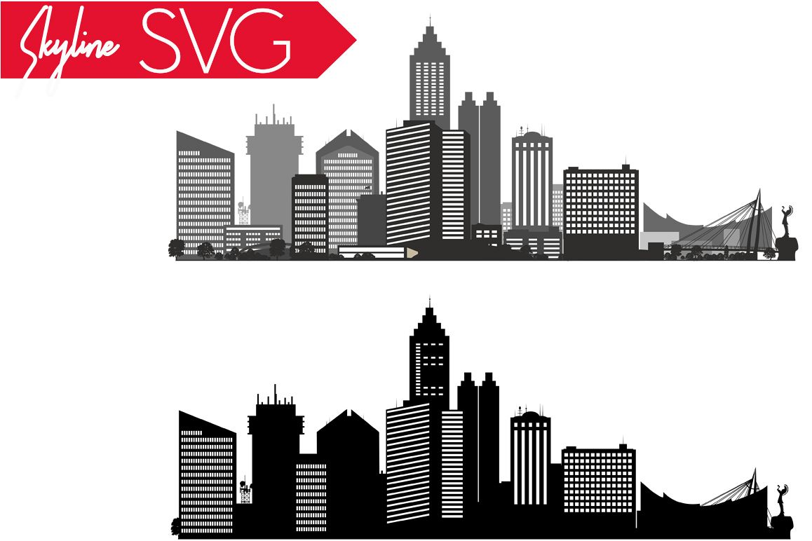 Wichita SVG, Kansas SVG, City Vector Skyline,  silhouette USA city, SVG, JPG, PNG, DXF, CDR, EPS, AI example image 1