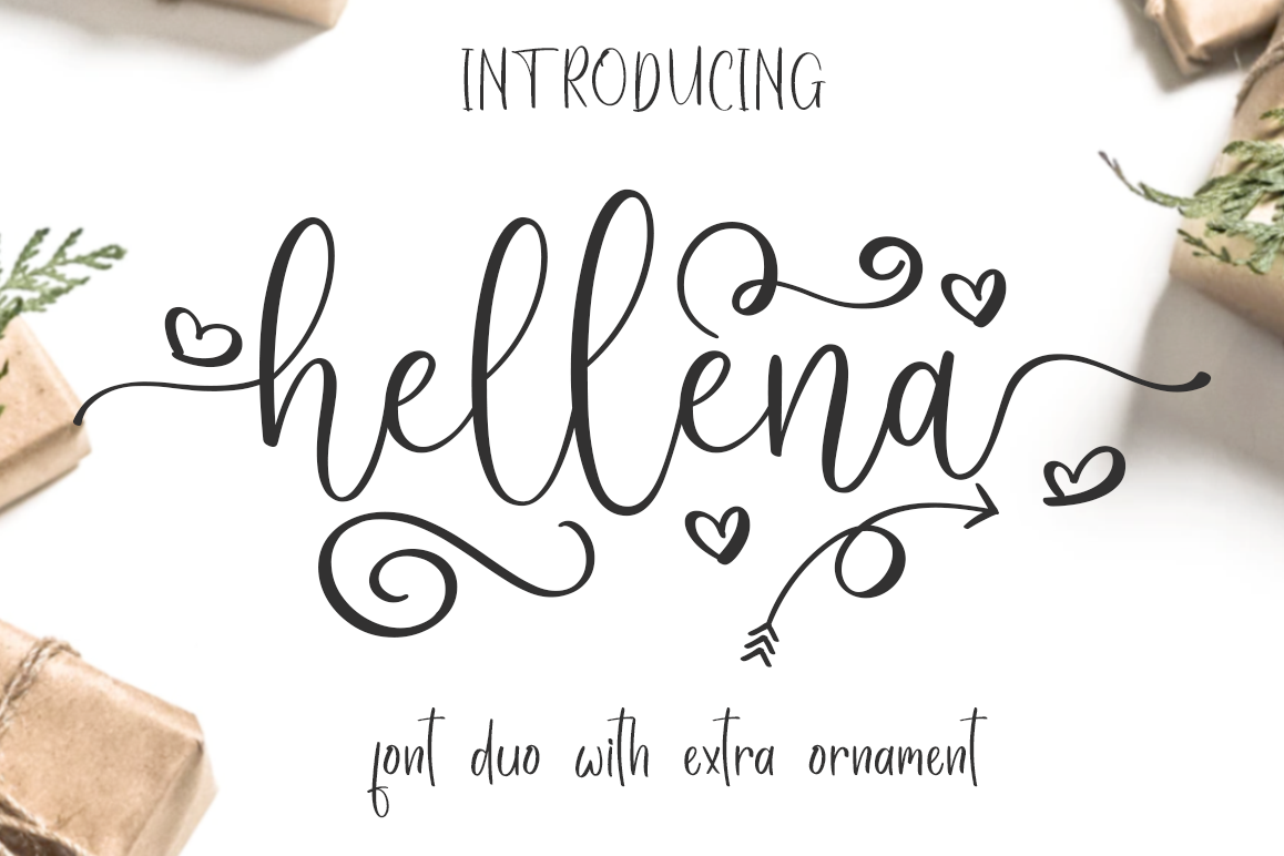 Hellena \ Font Duo with additional Ornament example image 1