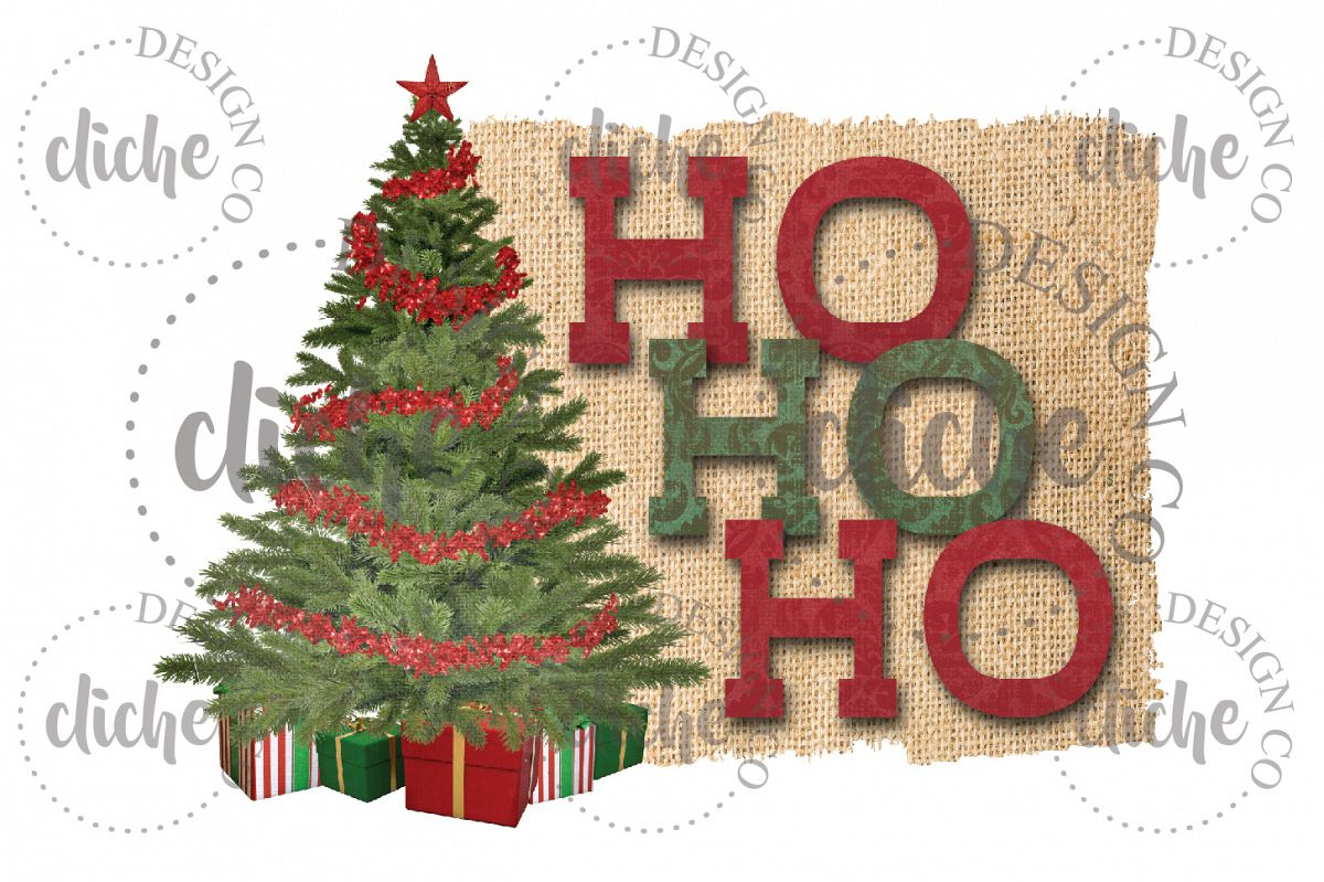 christmas tree sublimation design example image 1 - Christmas Tree Designs