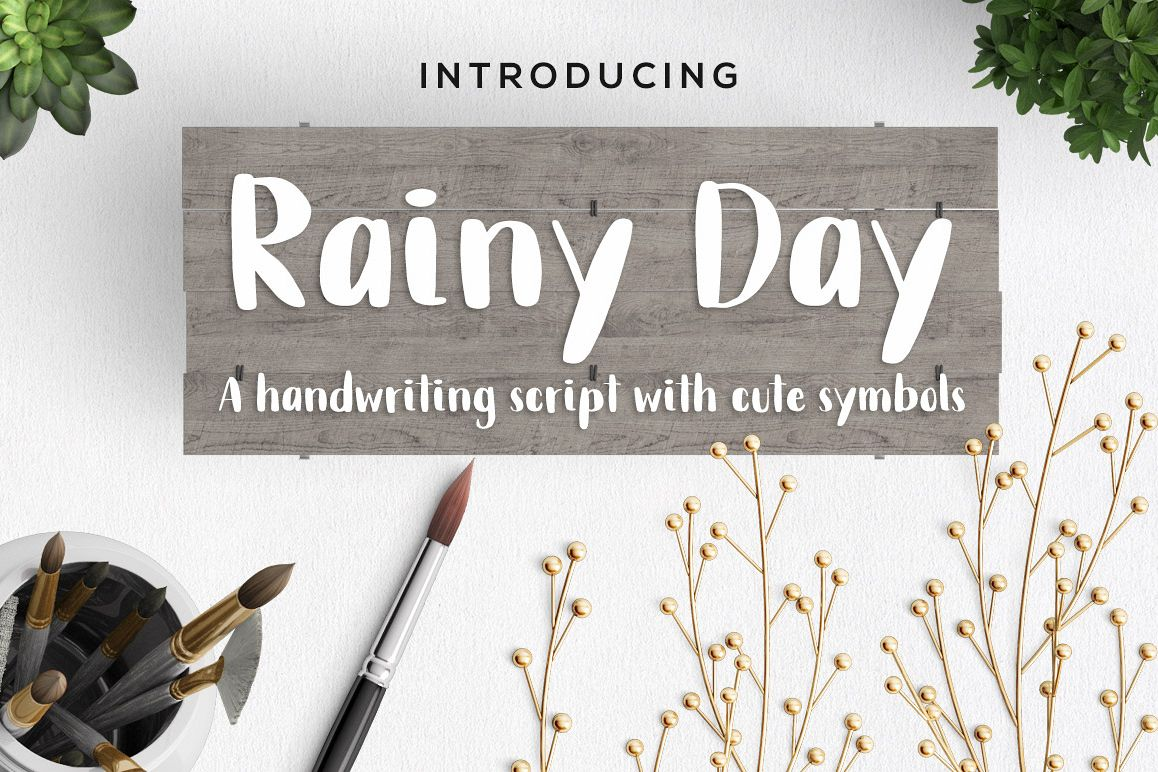Rainy Day Handwriting Script Font example image 1