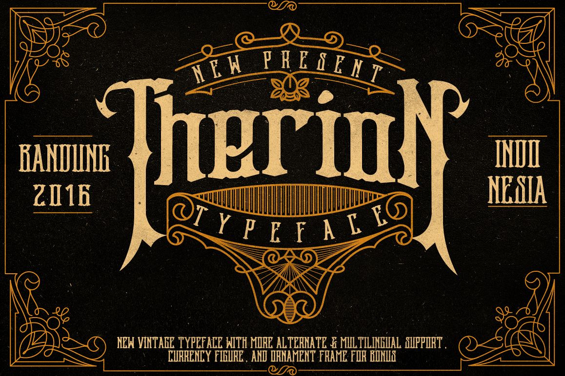 Therion Typeface + Ornament Bonus example image 1