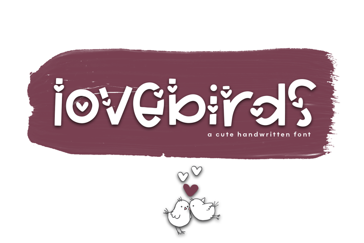 Lovebirds - A Cute Handwritten Font example image 1