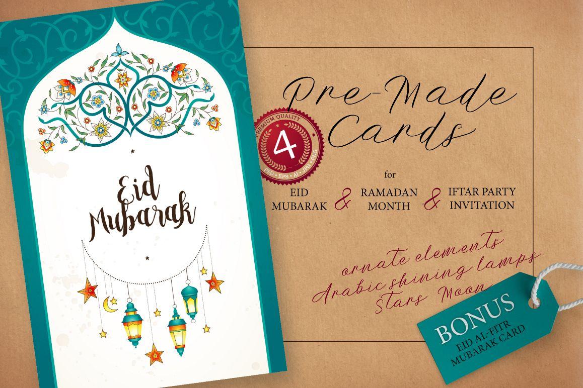 7 Set Of Ramadan Pre Made Cards