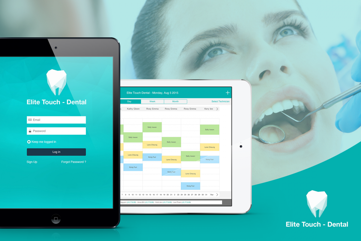 Elite Touch Dental UI Graphic Assets example image 1