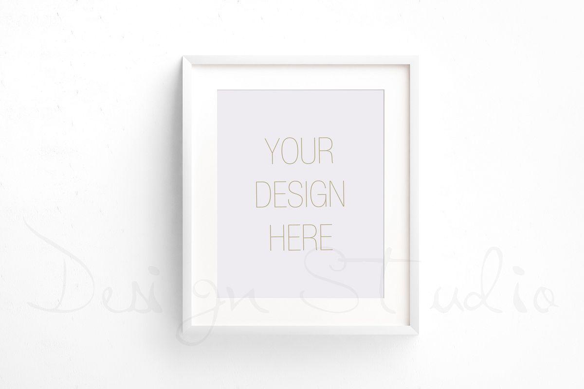 Styled Stock Photography, Frame Mockup set, vertical&Horizontal white frames example image 1
