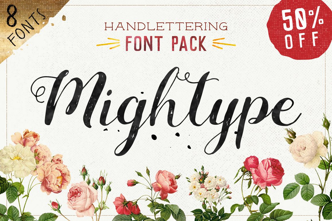 Mightype Handlettering Font Pack example image 1