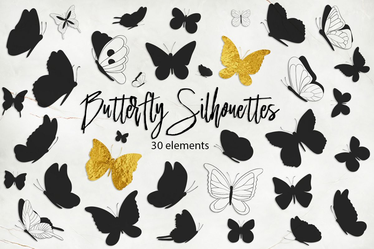 Butterfly Silhouettes example image 1