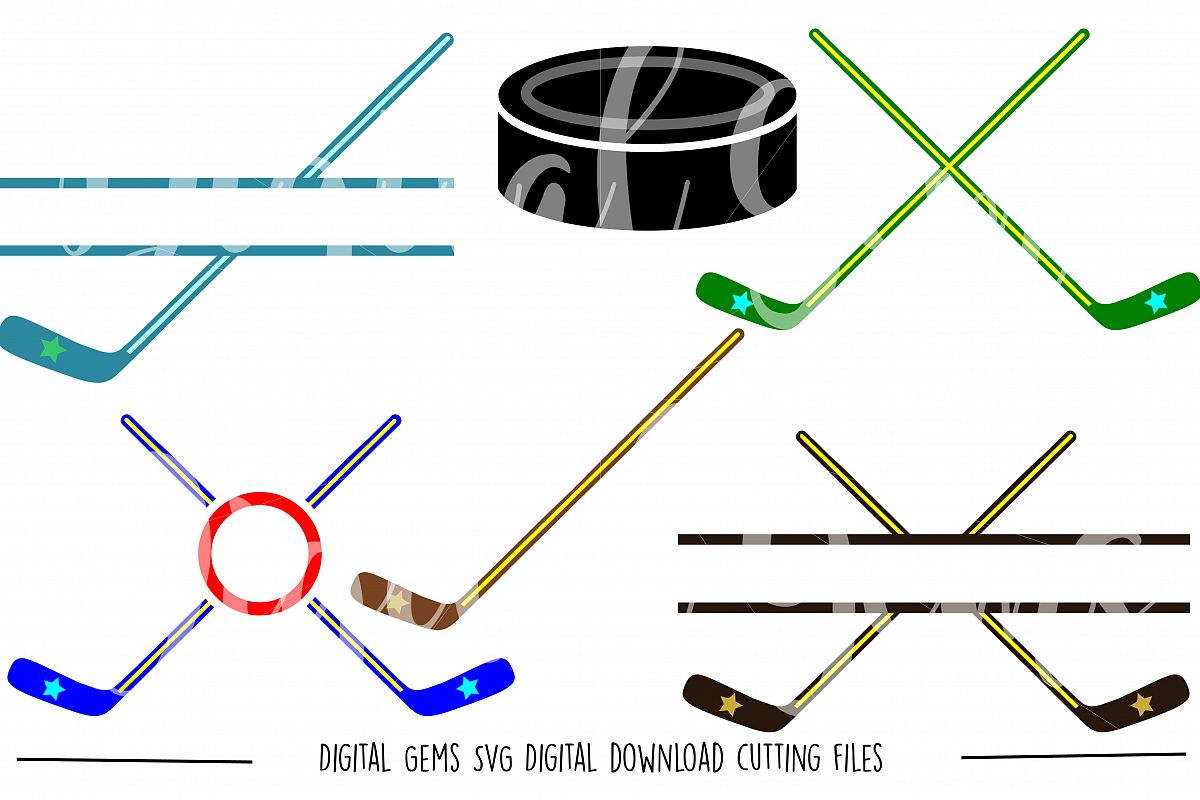 Ice Hockey SVG / PNG / EPS / DXF files example image 1