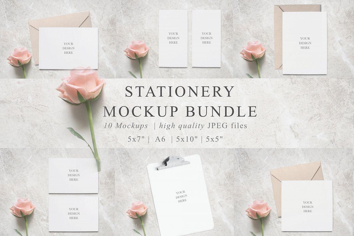Stationery Mockup Bundle example image 1