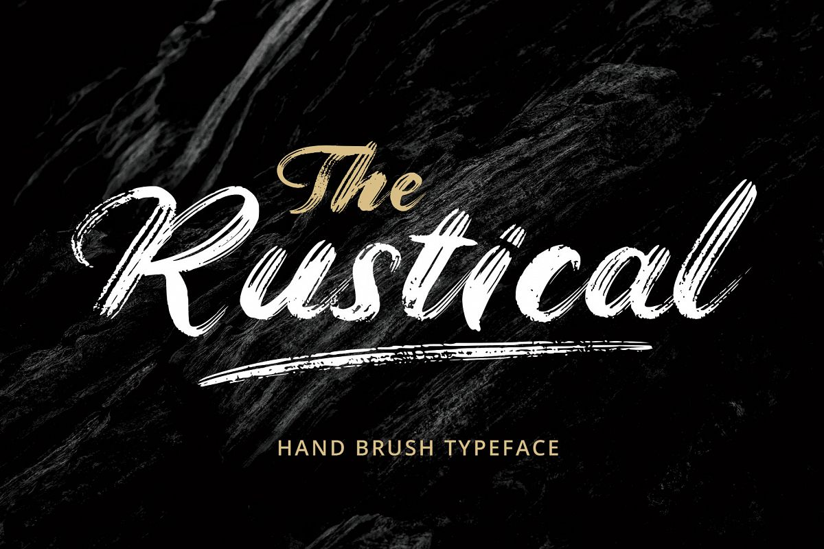 Rustical Brush Font example image 1