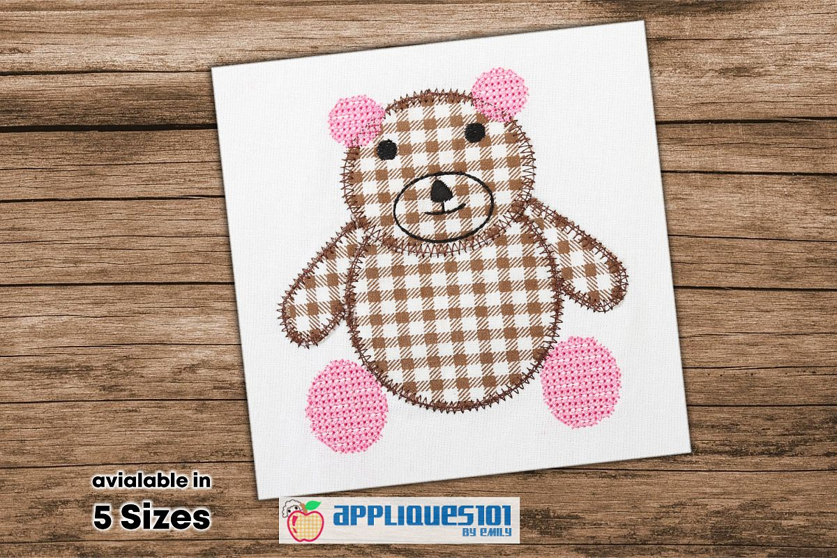 Cute Teddy Bear Embroidery Applique Design - Toys example image 1