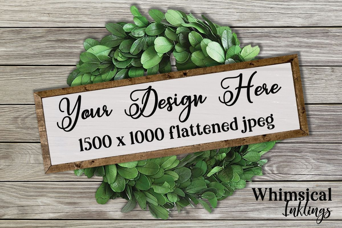 Wreath and Sign Mock Up example image 1