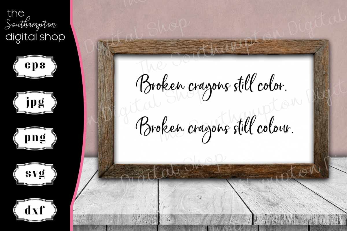 Broken Crayons Still Colour/Color UK and USA Spelling example image 1
