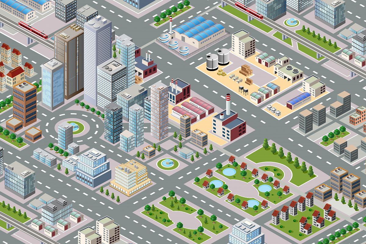 Big isometric city example image 1