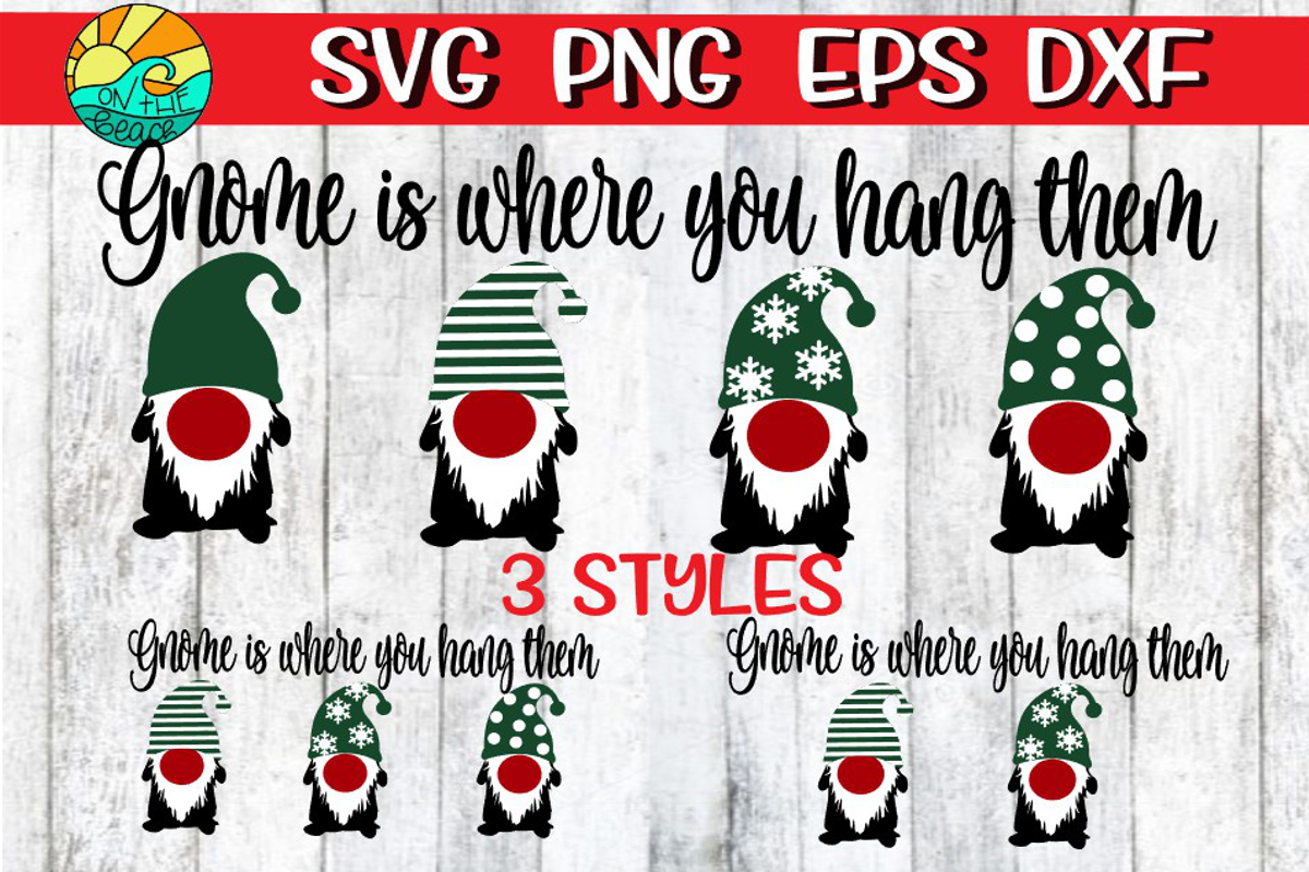 Gnome Is Where You Hang Them-Script - Christmas Stocking Sig example image 1