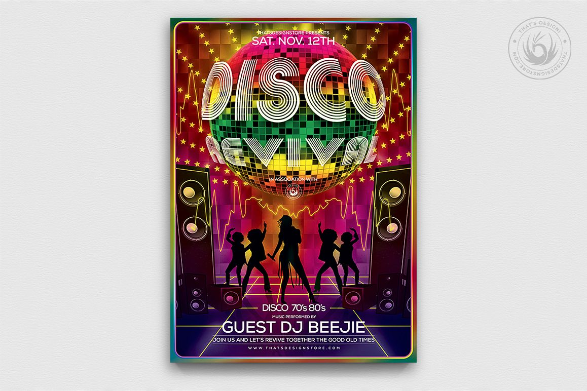 Disco Revival Flyer Template V1 example image 1