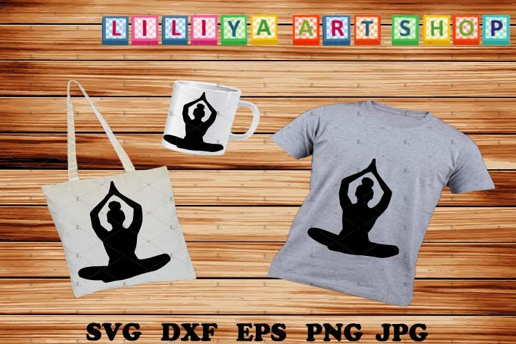 Afro Yoga svg,Afro woman svg,Black woman svg example image 1