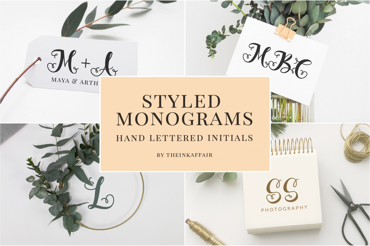 Styled Monograms - Hand lettered Initials example image 1