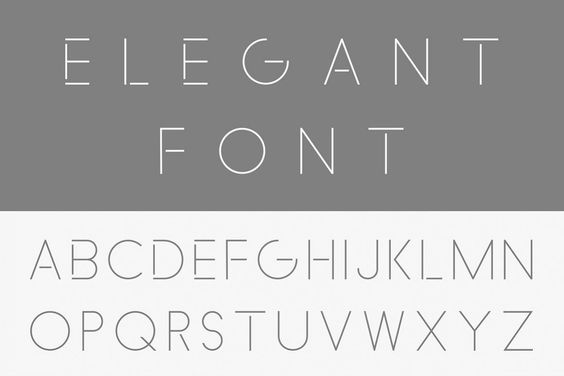 Minimalistic font - english alphabet example image 1