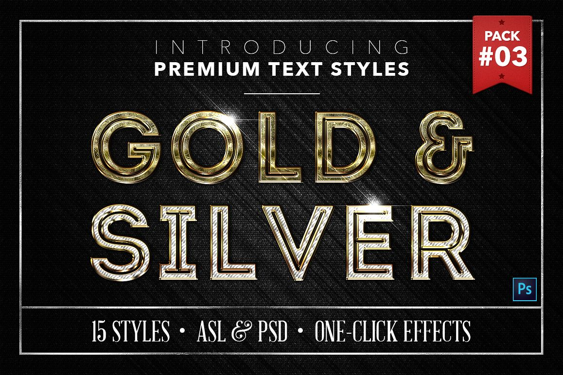 Gold & Silver #3 - 15 Text Styles example image 1