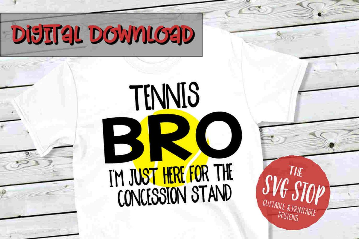 Tennis Bro -SVG, PNG, DXF example image 1