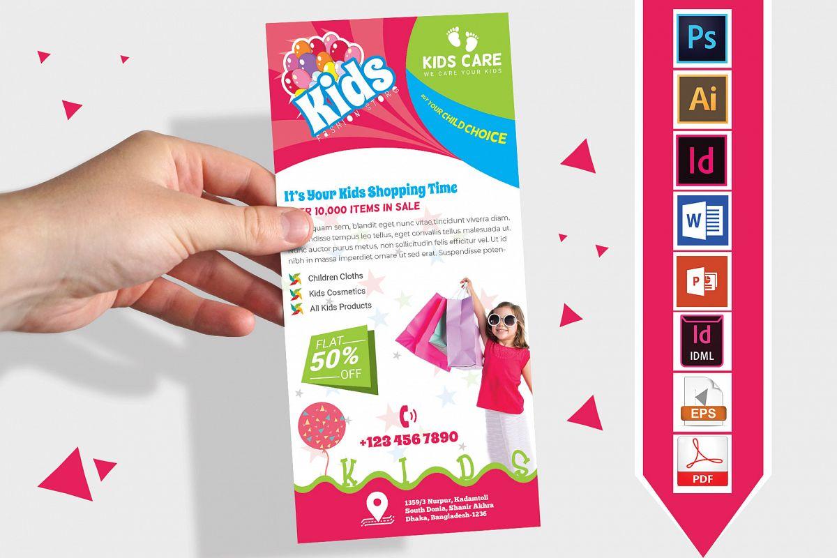 Rack Card | Kids Fashion DL Flyer Vol-01 example image 1