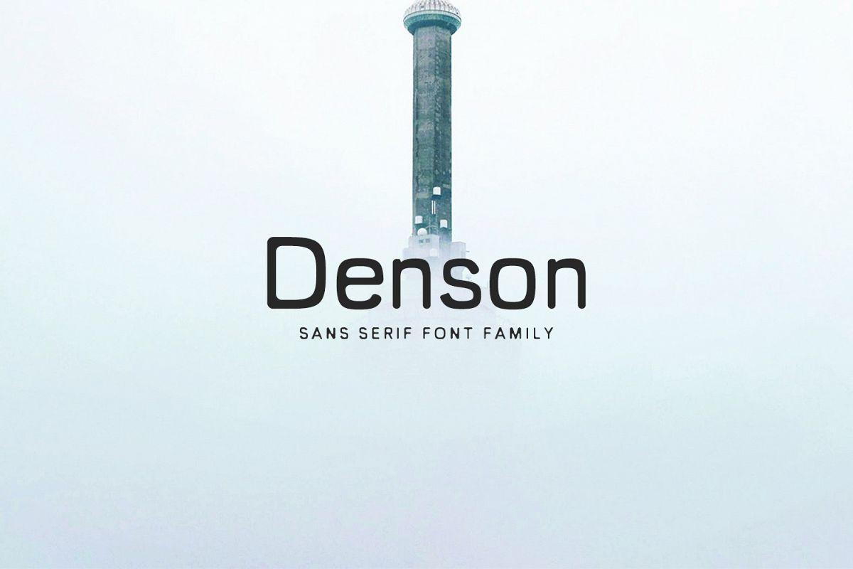 Denson Sans Serif Font Family example image 1