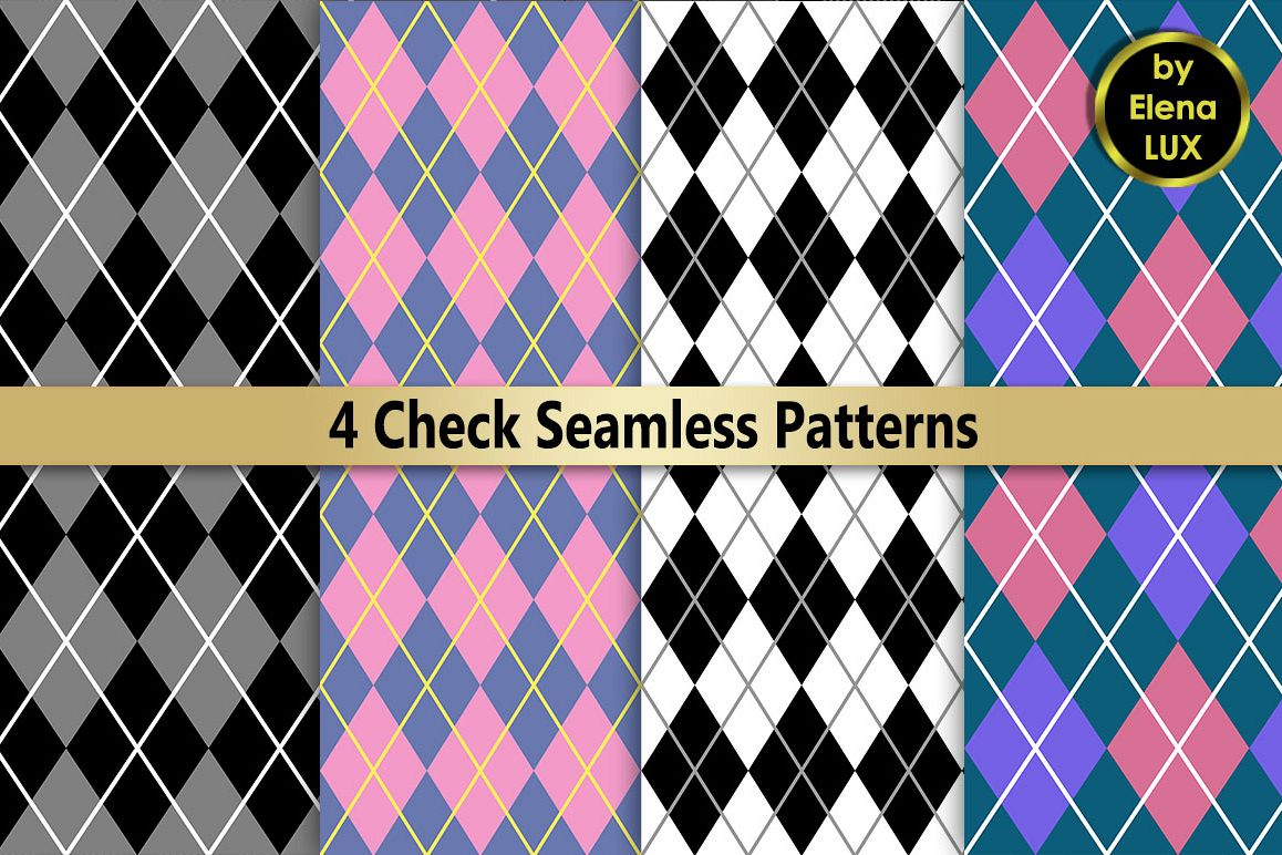 Check Seamless Pattern Set example image 1