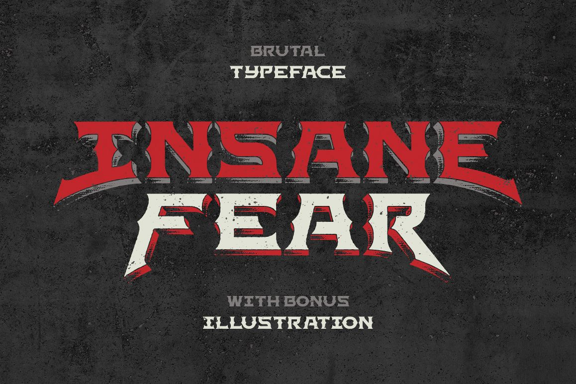Insane Fear font example image 1