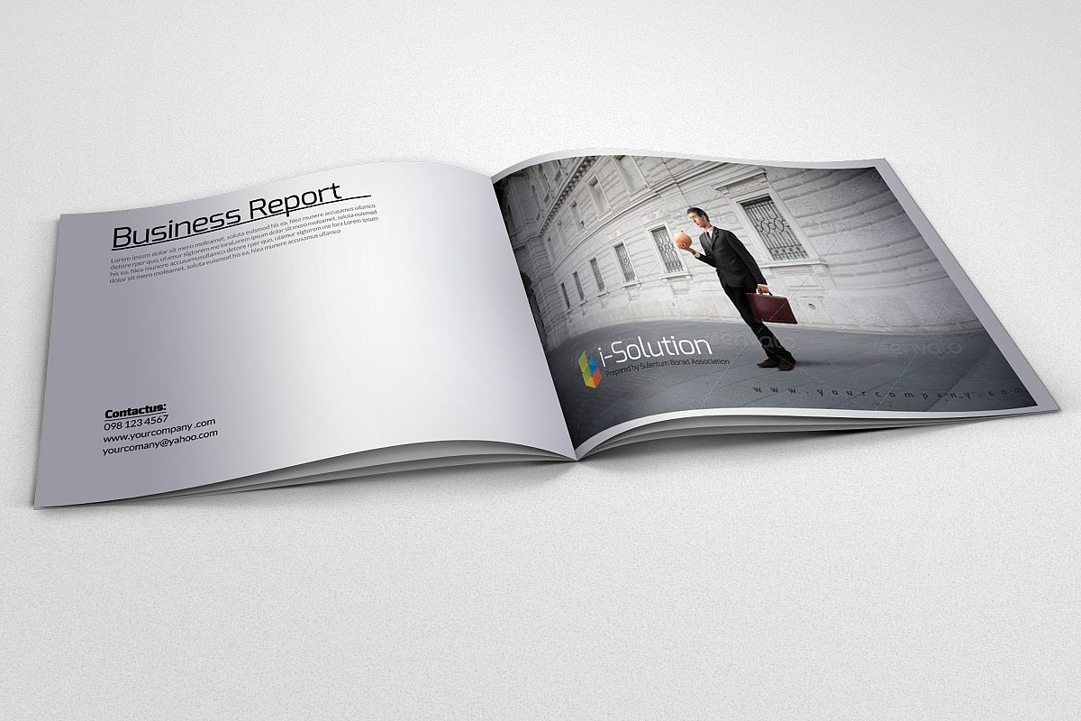 Business Square Bifold Brochure example image 1
