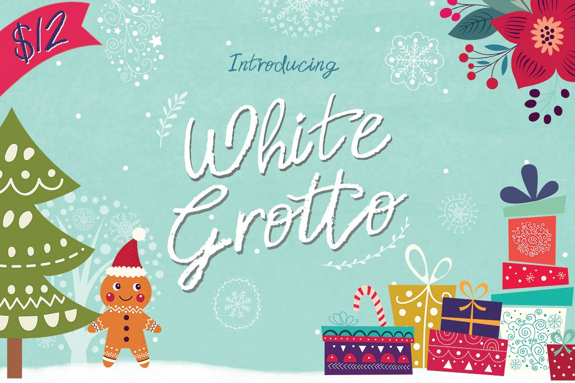 White Grotto Script example image 1