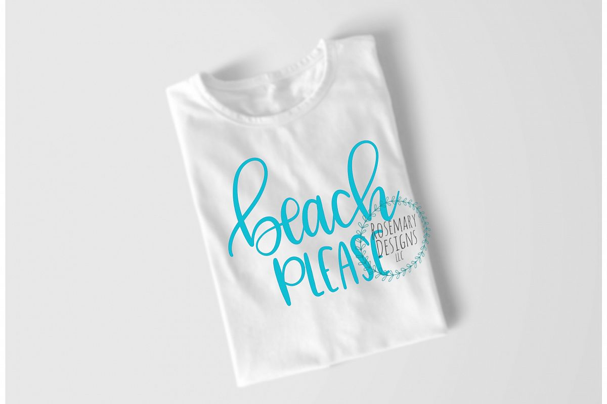 Beach Please - Hand lettered SVG file example image 1