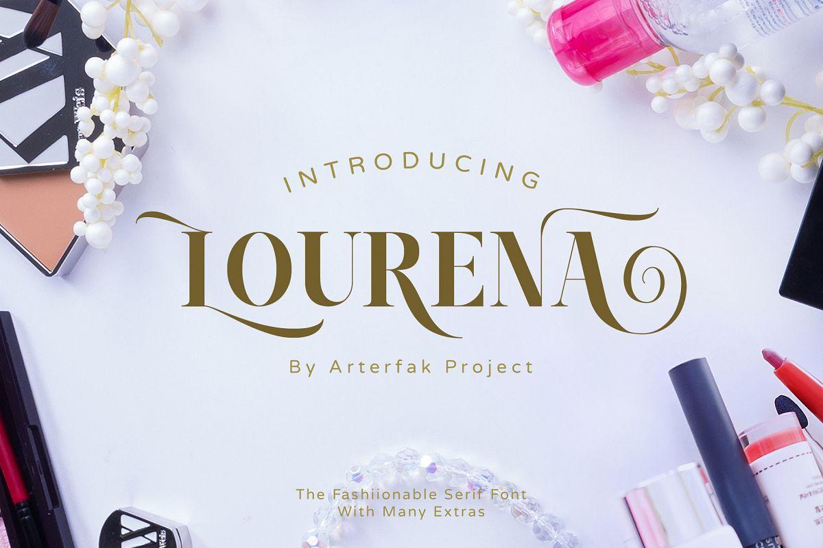 Lourena Typeface example image 1