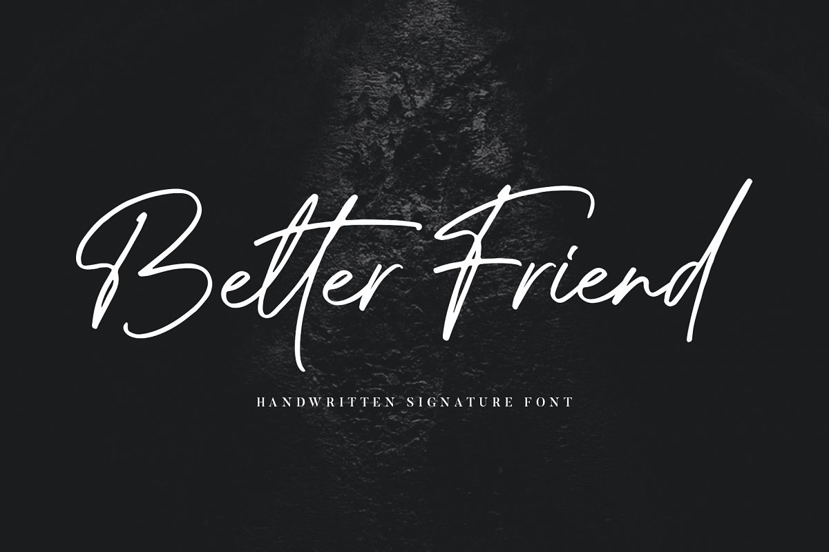 Better Friend Font example image 1