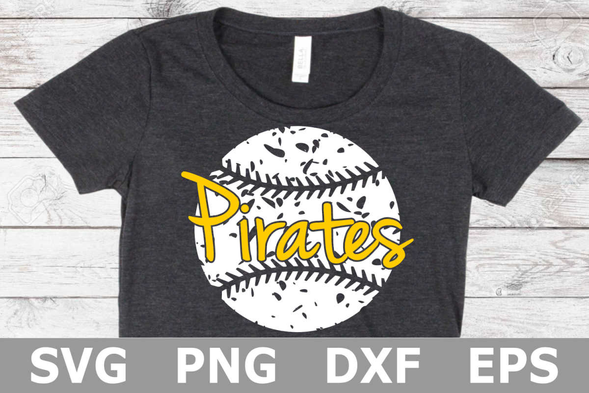Pirates Grunge Baseball - A Sports SVG Cut File example image 1