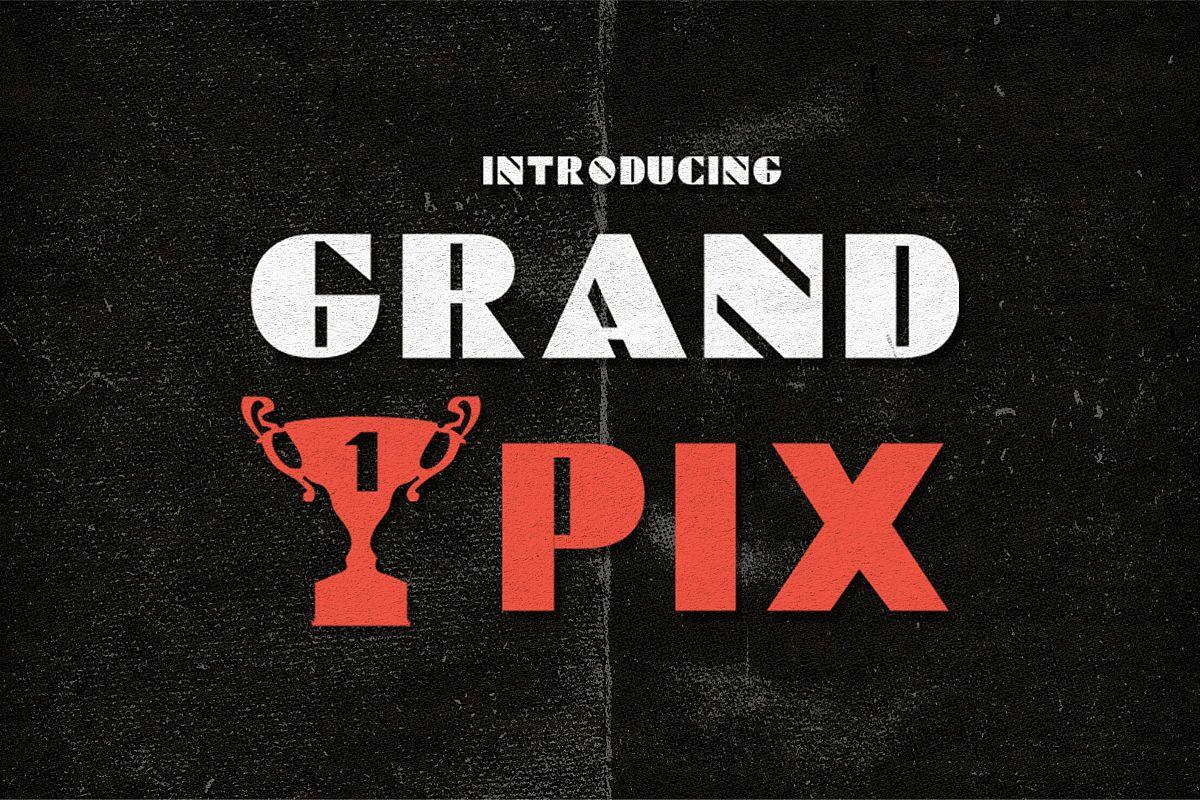 Grand Pix Font example image 1