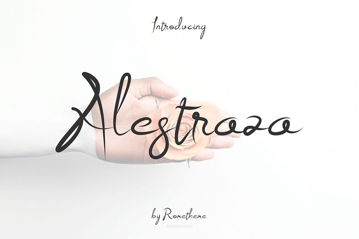 Alestraza Modern Script font example image 1