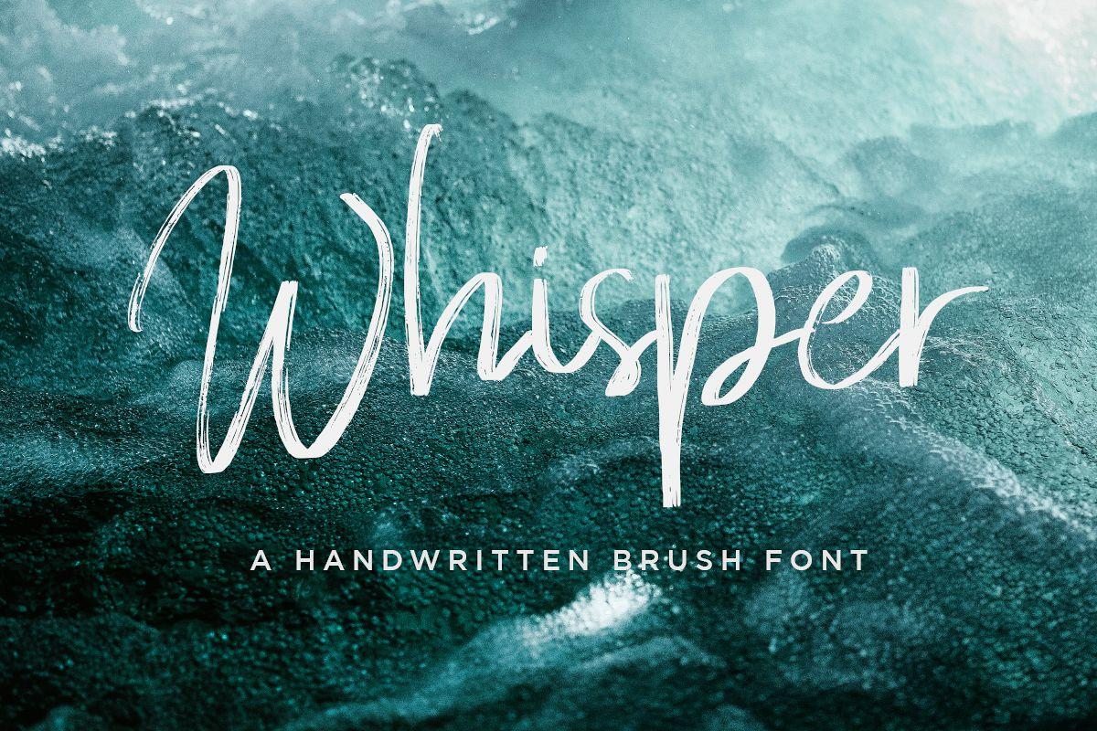 Whisper Brushes Script Font example image 1