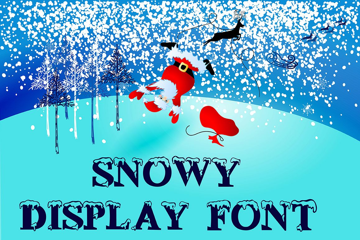 Snowy display font example image 1