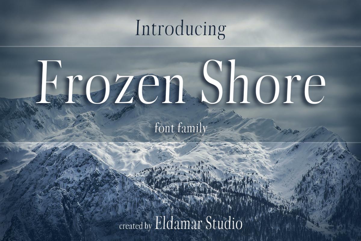 Frozen Shore Font example image 1