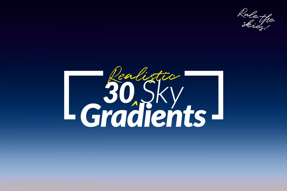30 Realistic Sky Gradients for Photoshop & Illustrator example image 1